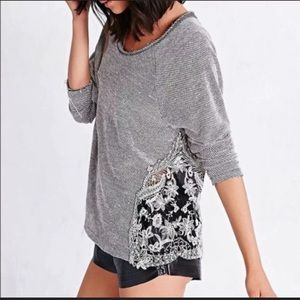 Staring at Stars Distressed Lace Burnout Sweater